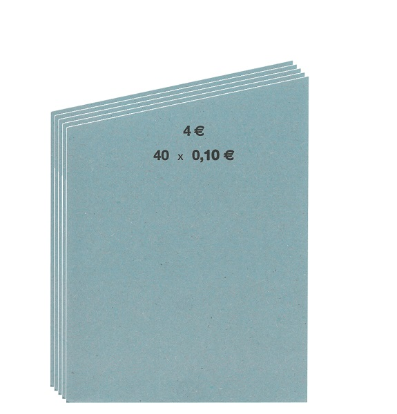 INKiESS Shop   INKiESS Handrollpapier 50 Blatt 0,10 EURO blau
